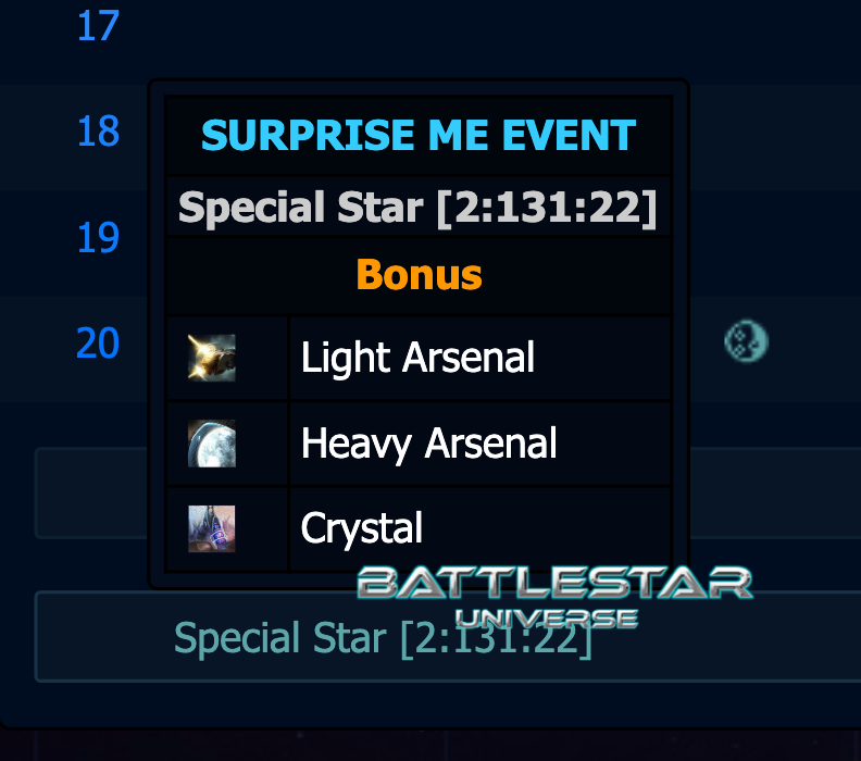 Special Star Events!!