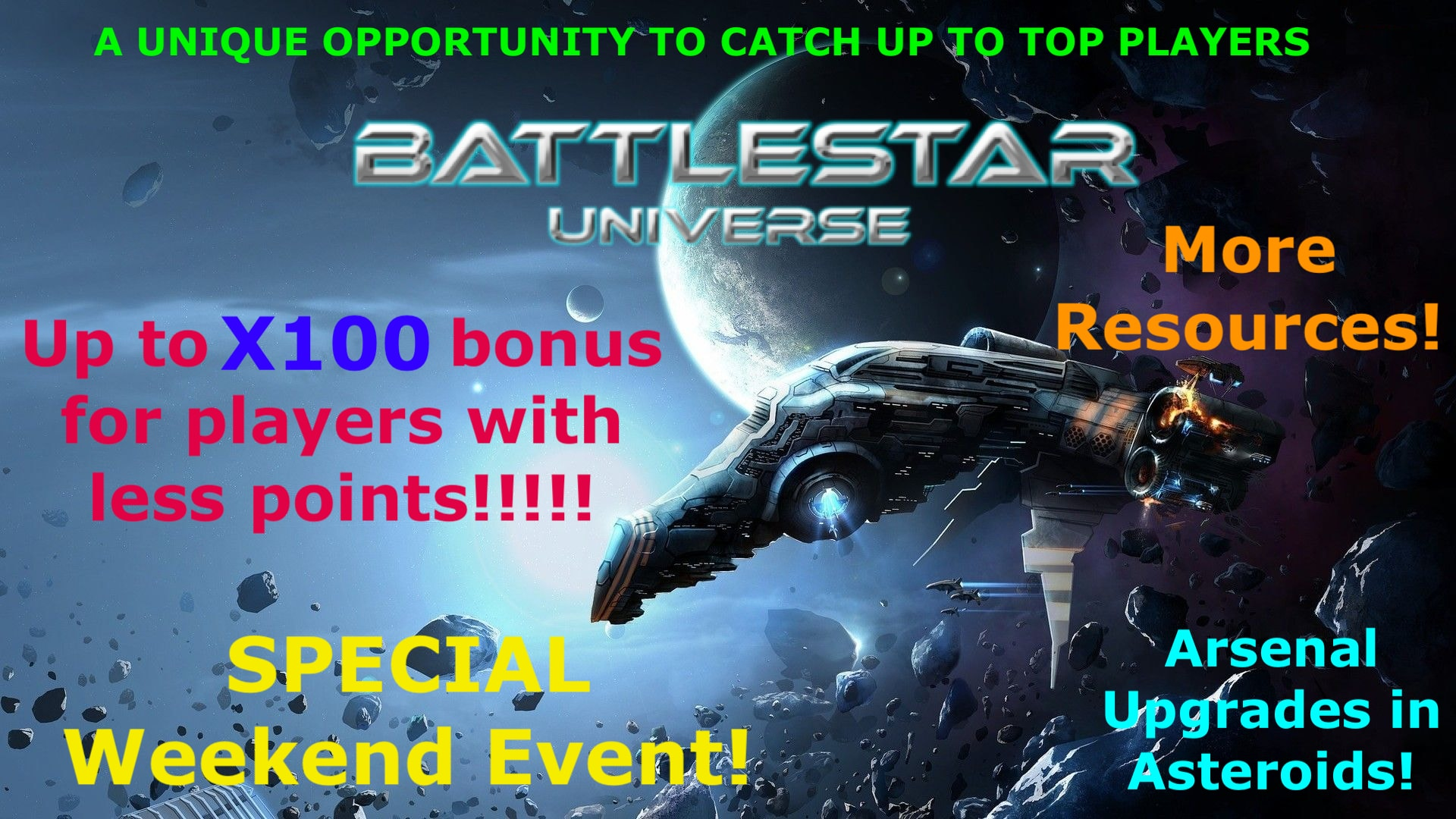 ASTEROID INVASION!! SPECIAL WEEKEND EVENT!!